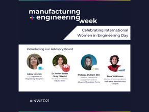 Manufacturing & Engineering Week support International Women in Engineering Day #INWED21