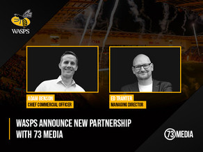 Wasps Welcome 73 Media as Official Virtual Events Supplier.