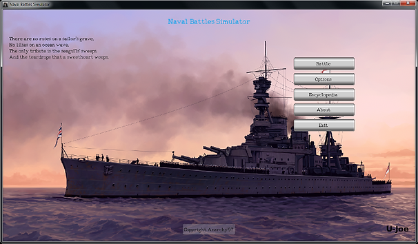 naval battles simulator main page menu 0