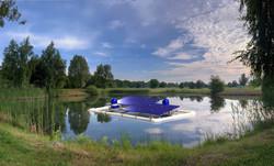 Autonomous water aeration device