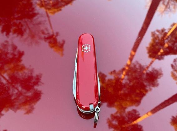 Victorinox Swiss Army Red Knife
