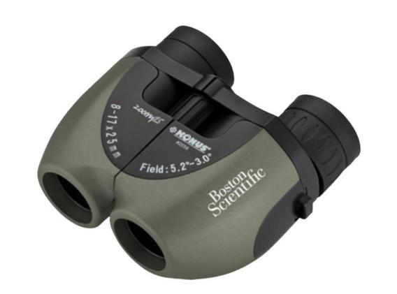 8-17x25 Zoom Binoculars - Green - Item# 25799
