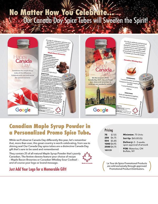 Canada Day Flyer Le Tour de Spice 2021 (