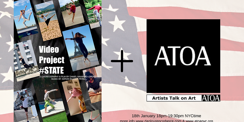 Video Project #STATE at ATOA Artist Talk On Art, NYC.