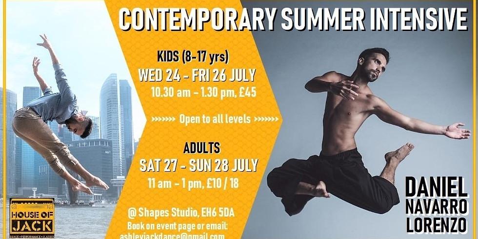 KIDS 8-17 yrs Contemporary Summer Intensive