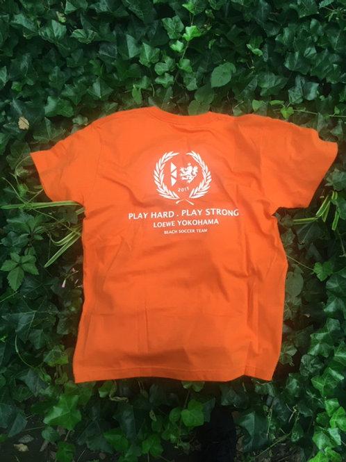 レーヴェオリジナルTシャツ(オレンジ/ホワイト)