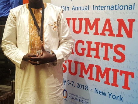 Beakanyang director receives Human Rights hero award in New York