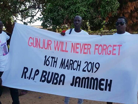 Gunjur protests, nudges government for action over murder of Buba Jammeh