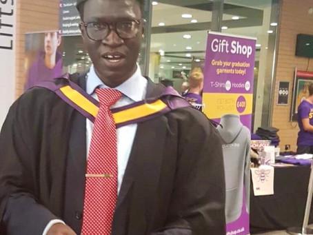 Kabiru Touray graduates with second mastersDegree from University of Manchester