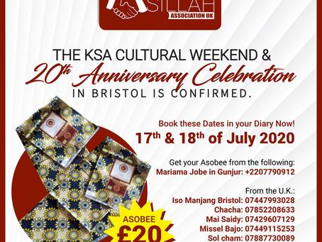 KSA 2020 CULTURAL WEEKEND & 20th ANNIVERSARY