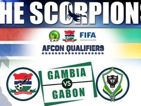 Football: Gambia vs Gabon in AFCON 2022 qualifier