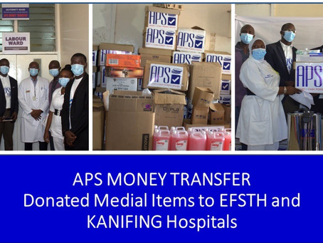 Health: APS Money Tranafer boosts EFSTH and Kanifing General Maternity Wards