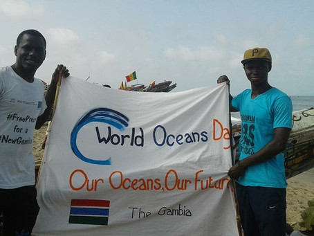 NEWS: World Oceans Day Beach Clean up in Gunjur