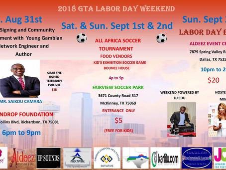 Gambian author to address diaspora Labor Day event