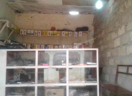 Break in at Ebrima Saho's shop at Gunjur market