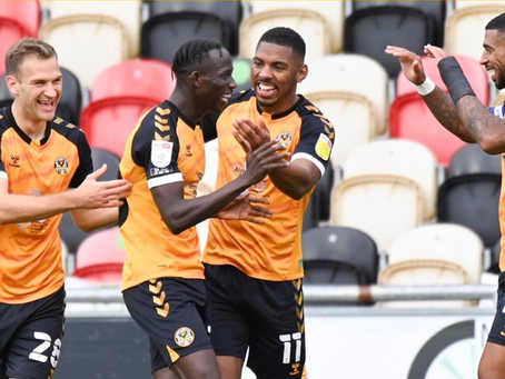 Newport County AFC moves to second as Saikou Janneh grasp first goal