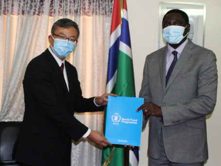 Foreign Minister Dr. Tangara receives World Food Programme's New Representative and Country Director