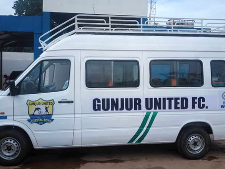 Gunjur United FC gets team bus as over D50K raised through pledges