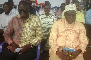 Majority Leader Kebba K Barrow and James Gomez