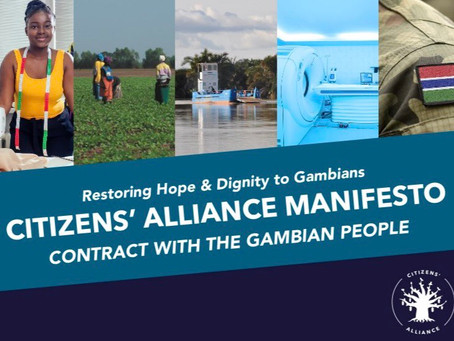 """Breaking: Citizens' Alliance unveils """"Contract with the Gambian people"""" Manifesto"""