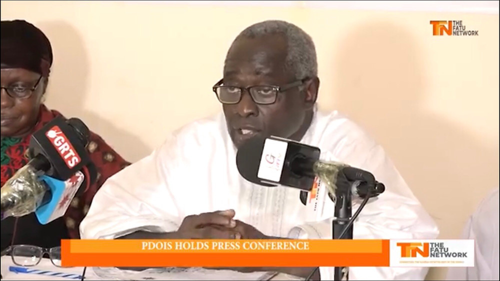 Hon. Halifa Sallah, Leader of PDOIS at a Press Conference on Tuesday 13th August 2019