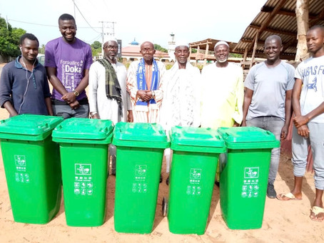 Speed Enterprise Donates D10,000 to Gunjur Beach Trash Bin Campaign