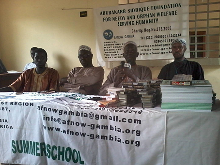 AFNOW Donates Learning Materials To Students In Gunjur