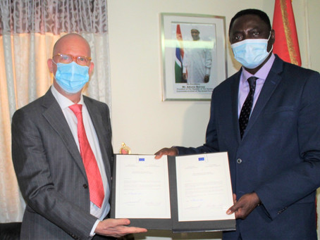 Foreign Minister receives new EU Ambassador, UK, French Diplomats and veteran Journalist Pap Saine