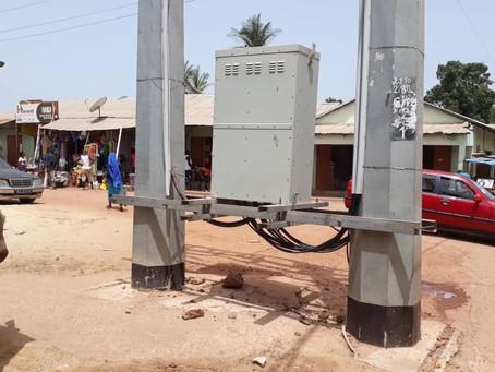Electricity transformer at Gunjur market is danger to the public