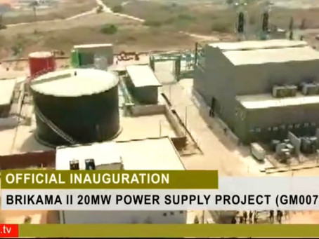 20MW Power Plant Inaugurated in Brikama