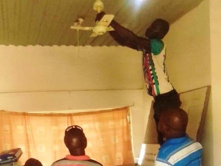 Sibindinto FC installs ceiling fans, light bulbs at Gunjur Health Centre