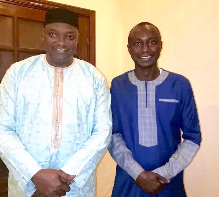 Ansumana Bojang with President Barrow