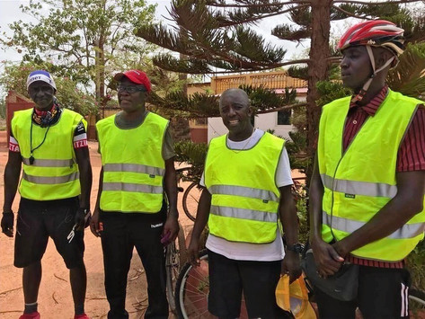 50km ride for health ends in Gunjur as 57 year old Dr Janneh impresses