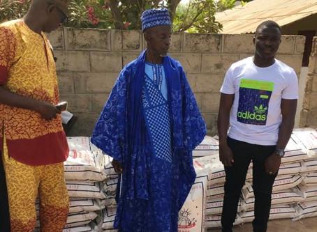 Covid-19: Techworld company distrubutes 50 bags of rice in Gunjur