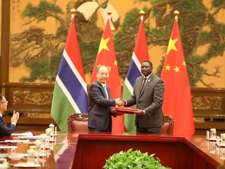 The Gambia signs 3 cooperation agreements with China