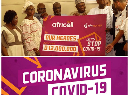 Covid-19: Outcry as Africell Gambia gives D12 million to government