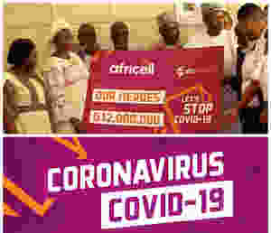 Africell presents D12 million to Gambia government for the fight against spread of covid-19 in The Gambia