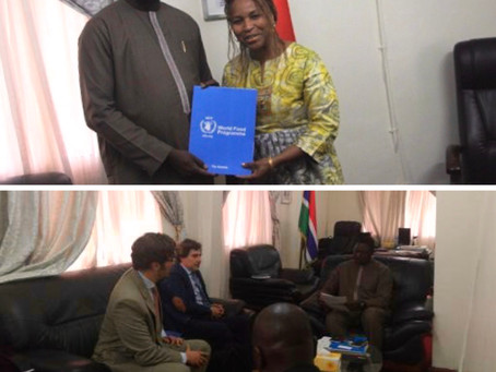 Foreign Minister Tangara received newly appointed WFP Country Director