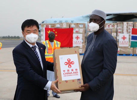 Donation of medical supplies from China arrives in The Gambia