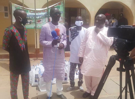 Senegal based Gambian donates Face Masks to Goverment of The Gambia