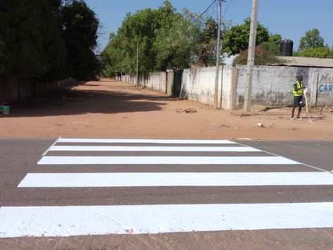 New Zebra crossings installed at major junctions in Gunjur