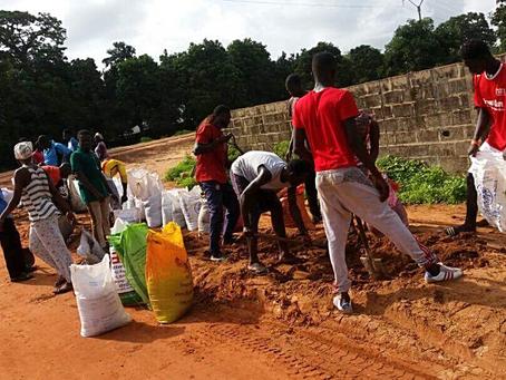 Gunjur Gimindari Youths On Road Rehabilitation, Others