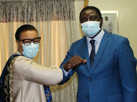 Foreign Minister Dr. Tangara receives Commonwealth Secretary General Hon. Patricia Scotland