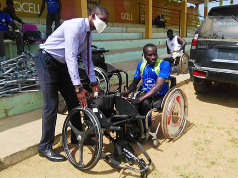 Gambian Paralympics Athletes Receive Items from Gambia National Para-Olympics Committee