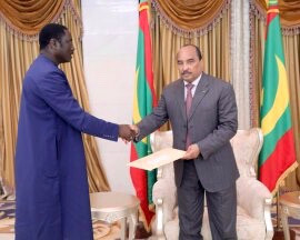 Gambian Foreign Minister meets Mauritanian President