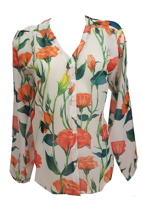 Blouse colorful flowers
