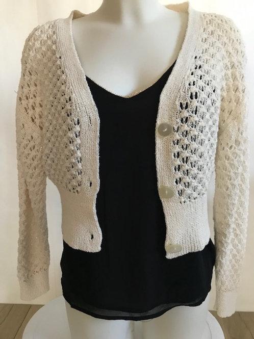 Ecru Crochet Gilet