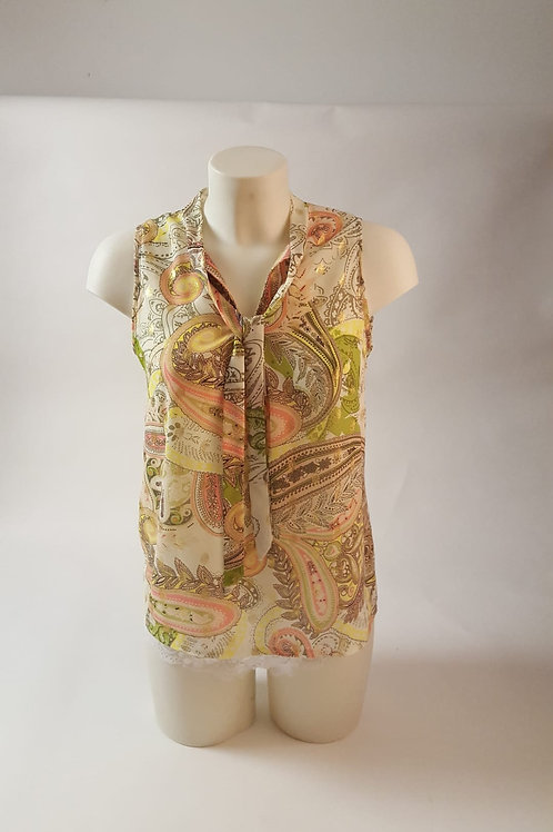 Fluo top bloes met strikje en golden touch