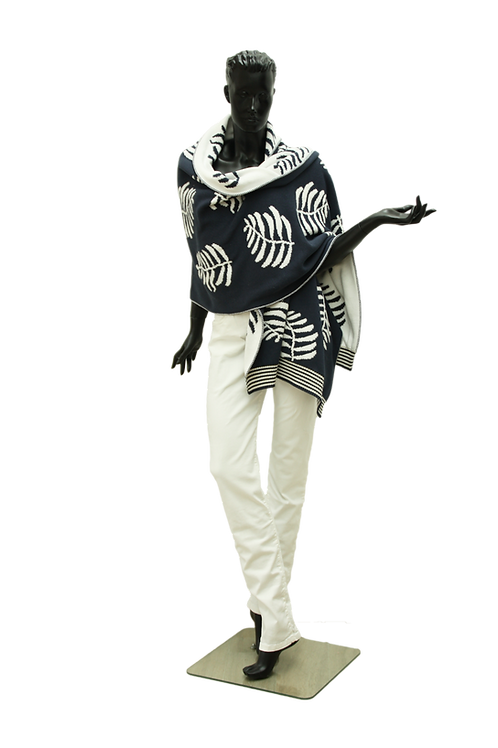 Poncho Jeans, Ivory and Lurex