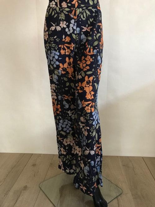 Dark Blue Flower Pants